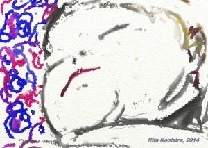 Rita Koolstra sleeping baby