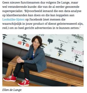Intermediair interview met foto