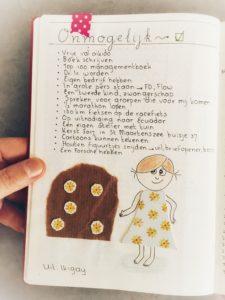 Kleurrijke bullet journal voor zzp-ers ikigai